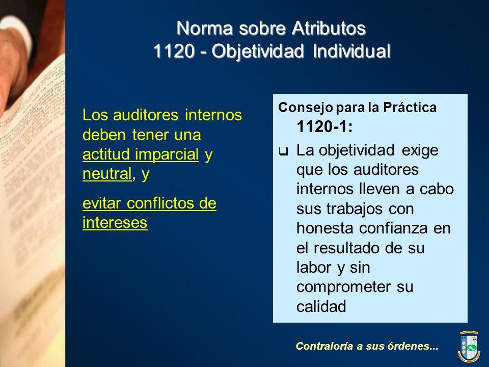 Norma sobre Atributos 1120 - Objetividad Individual