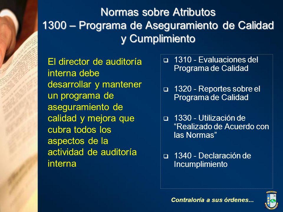 Normas sobre Atributos 1300 – Programa de Aseguramiento de Calidad y Cumplimiento