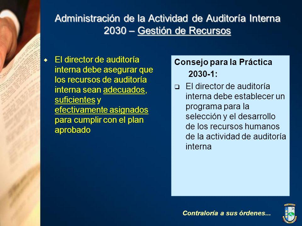 Administración de la Actividad de Auditoría Interna 2030 – Gestión de Recursos
