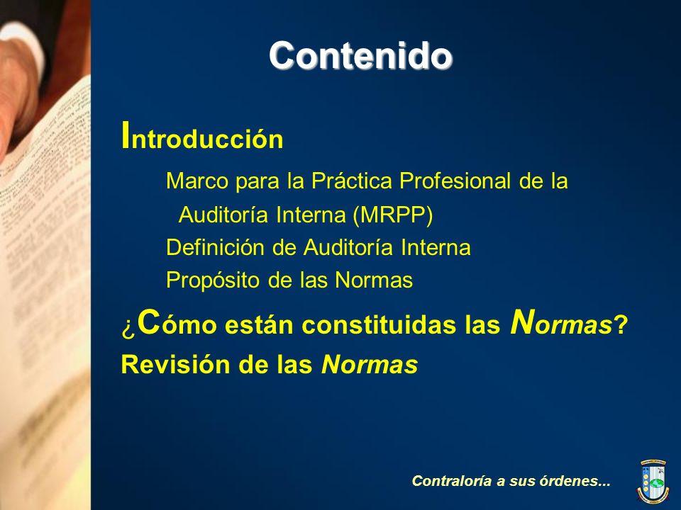 Contenido Introducción Marco para la Práctica Profesional de la