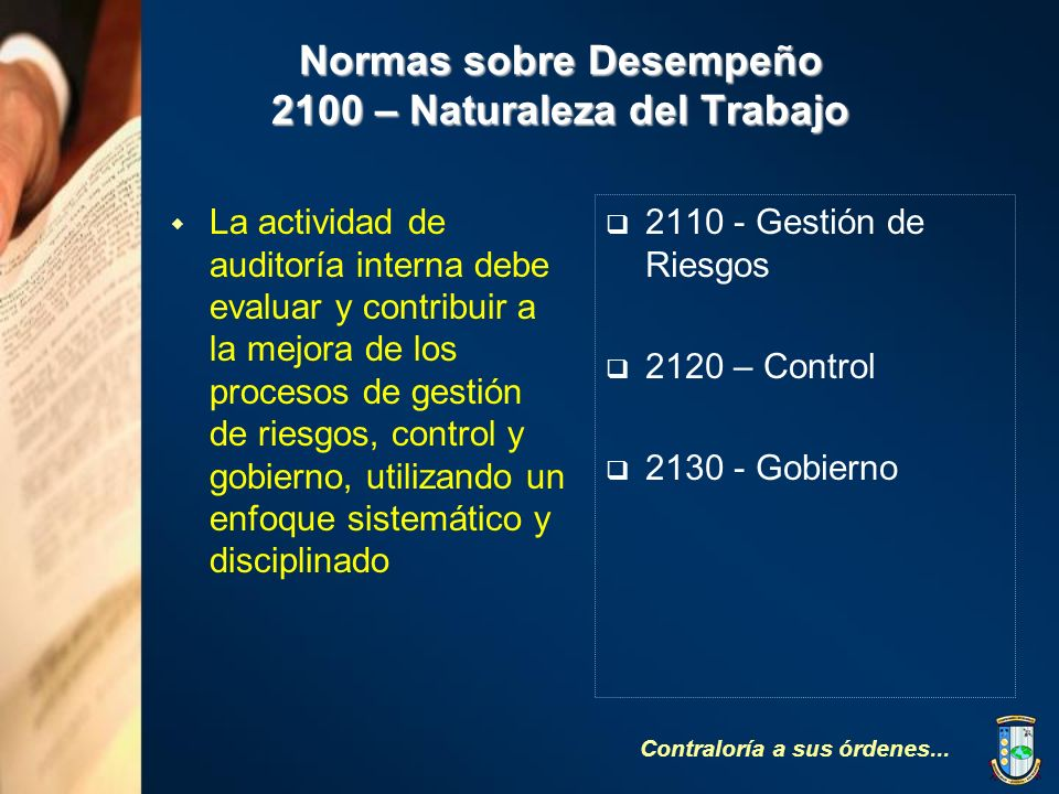 Normas sobre Desempeño 2100 – Naturaleza del Trabajo