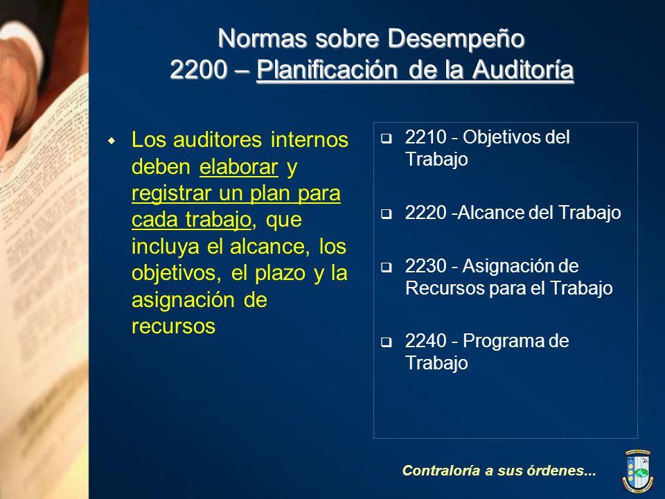 Normas sobre Desempeño 2200 – Planificación de la Auditoría
