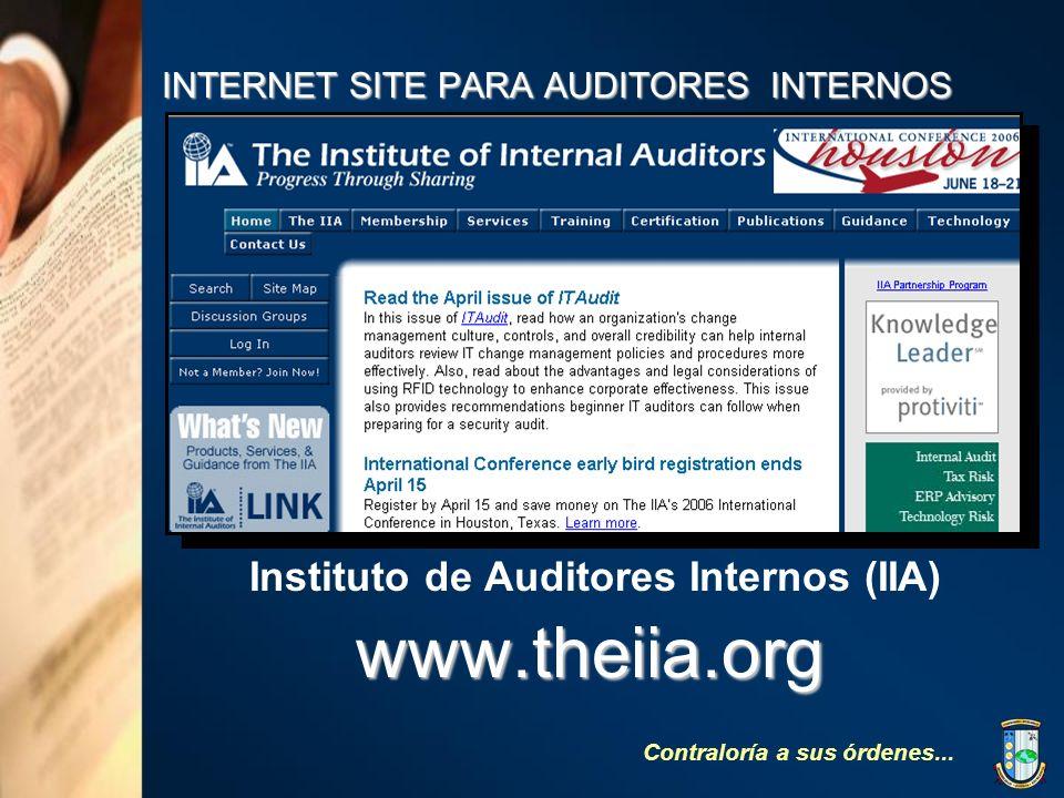 INTERNET SITE PARA AUDITORES INTERNOS