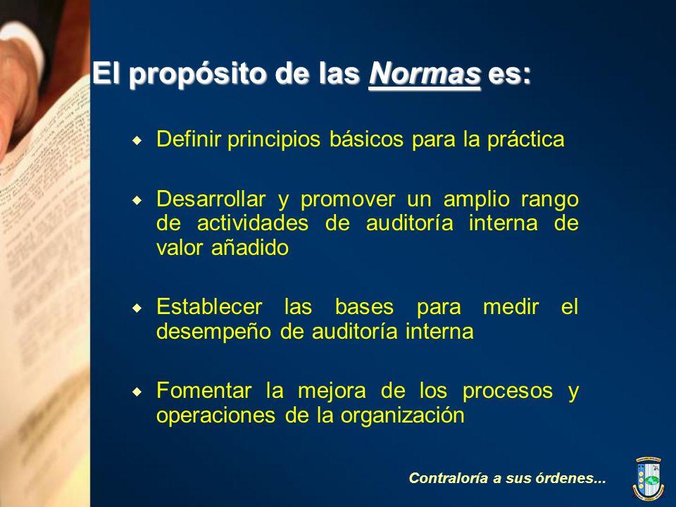 El propósito de las Normas es:
