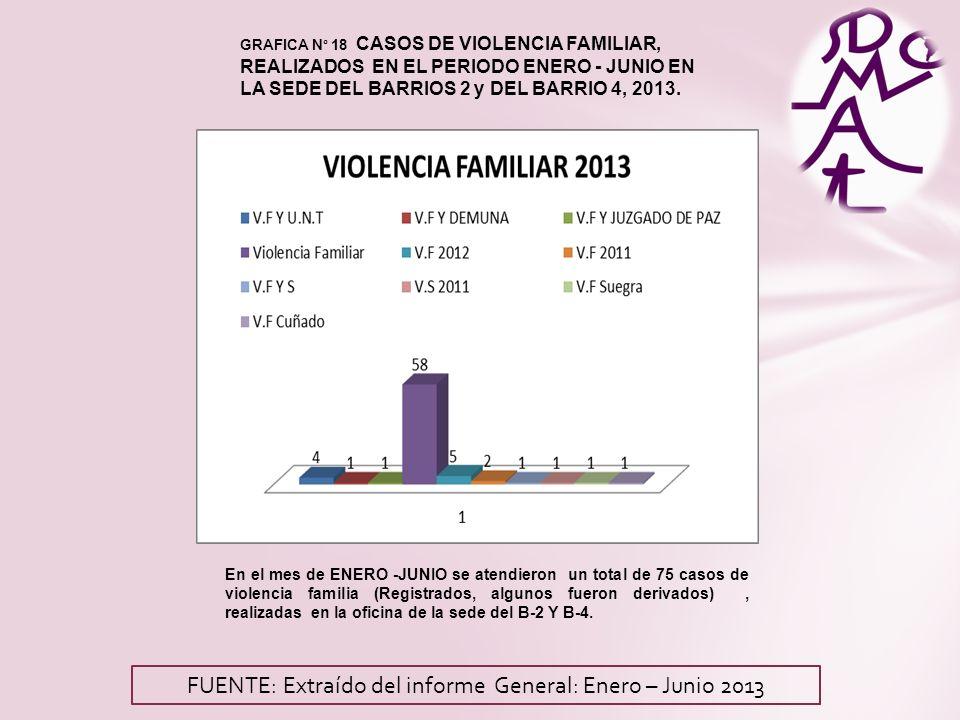 FUENTE: Extraído del informe General: Enero – Junio 2013