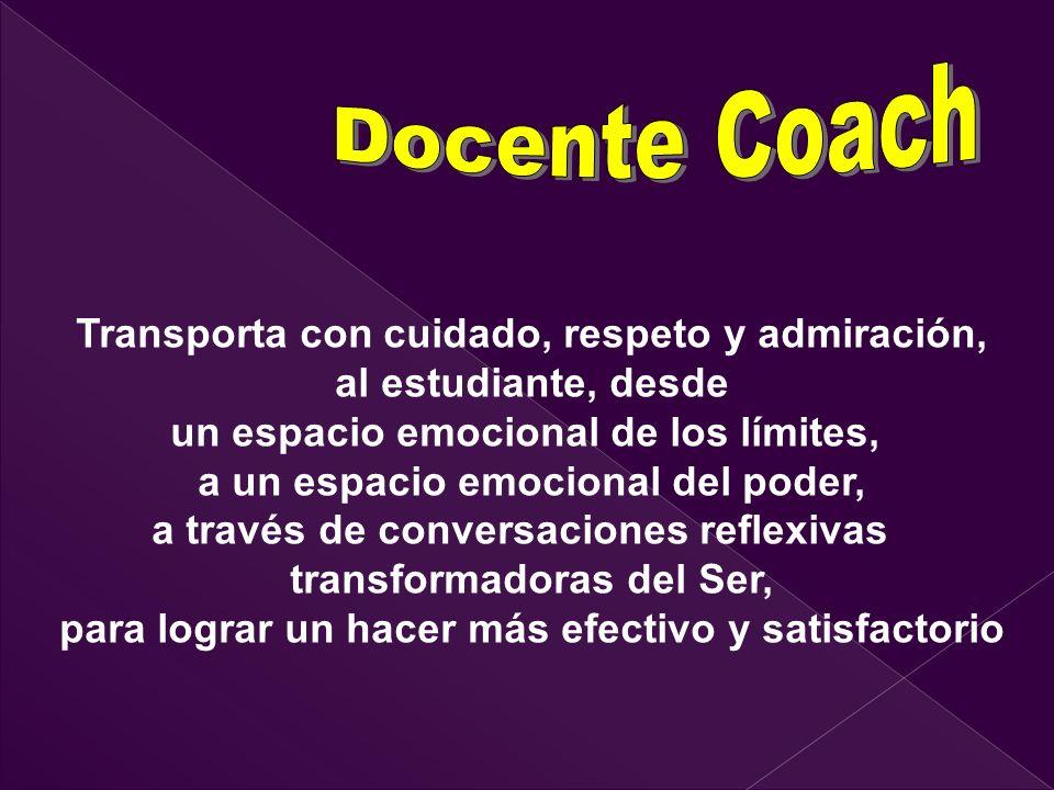 Docente Coach Transporta con cuidado, respeto y admiración,