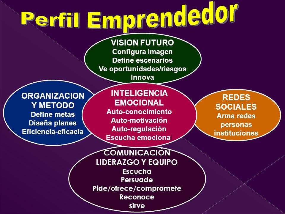 Ve oportunidades/riesgos INTELIGENCIA EMOCIONAL Pide/ofrece/compromete