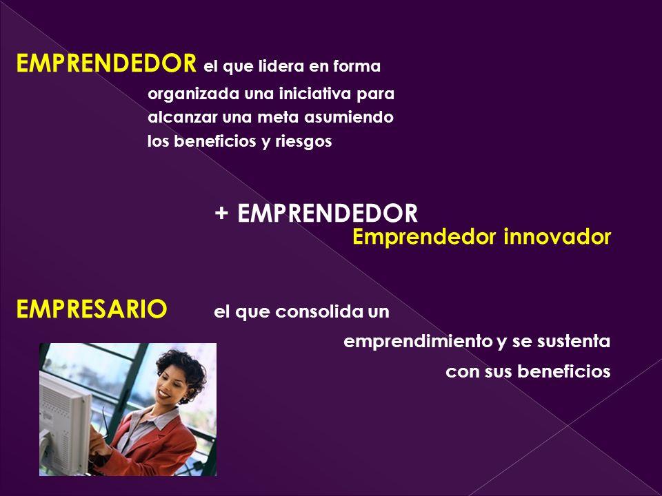 + EMPRENDEDOR Emprendedor innovador