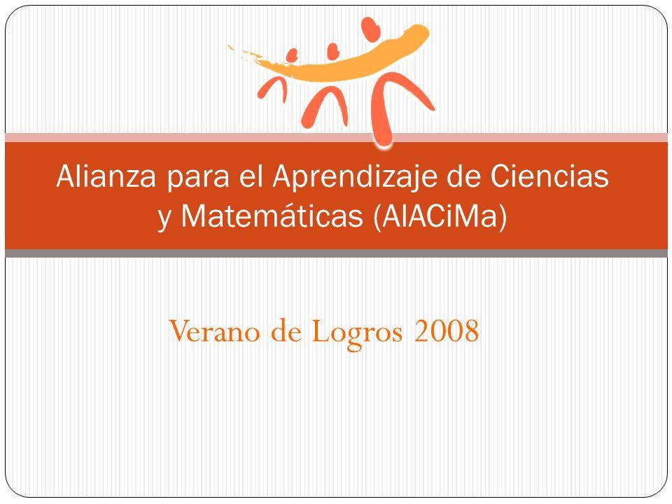 Alianza para el Aprendizaje de Ciencias y Matemáticas (AlACiMa)