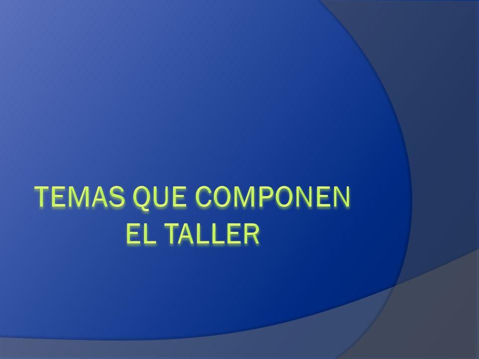 TEMAS QUE COMPONEN EL TALLER
