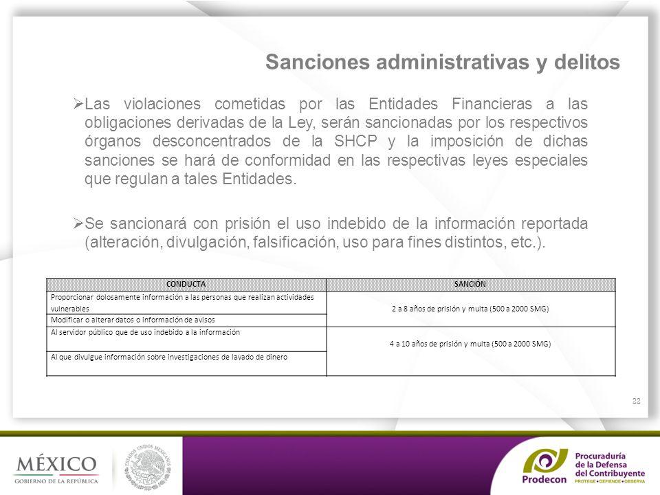 Sanciones administrativas y delitos