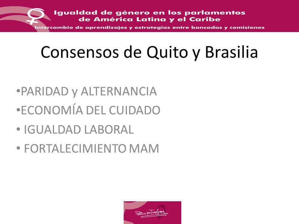 Consensos de Quito y Brasilia