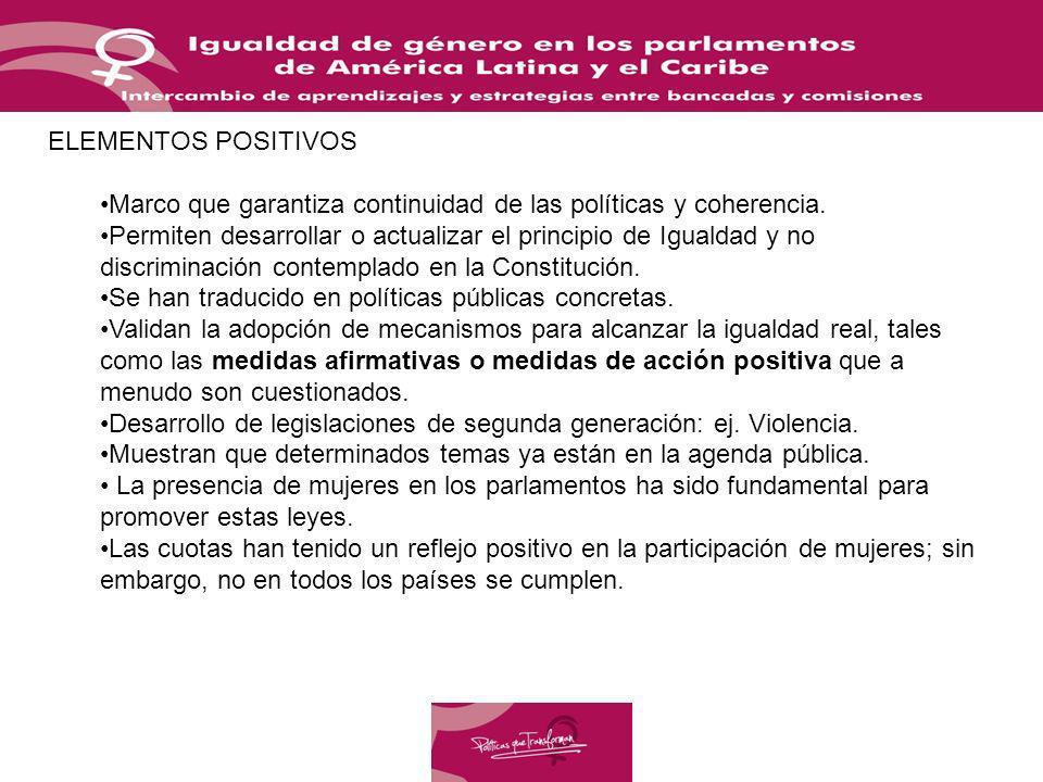 Marco que garantiza continuidad de las políticas y coherencia.