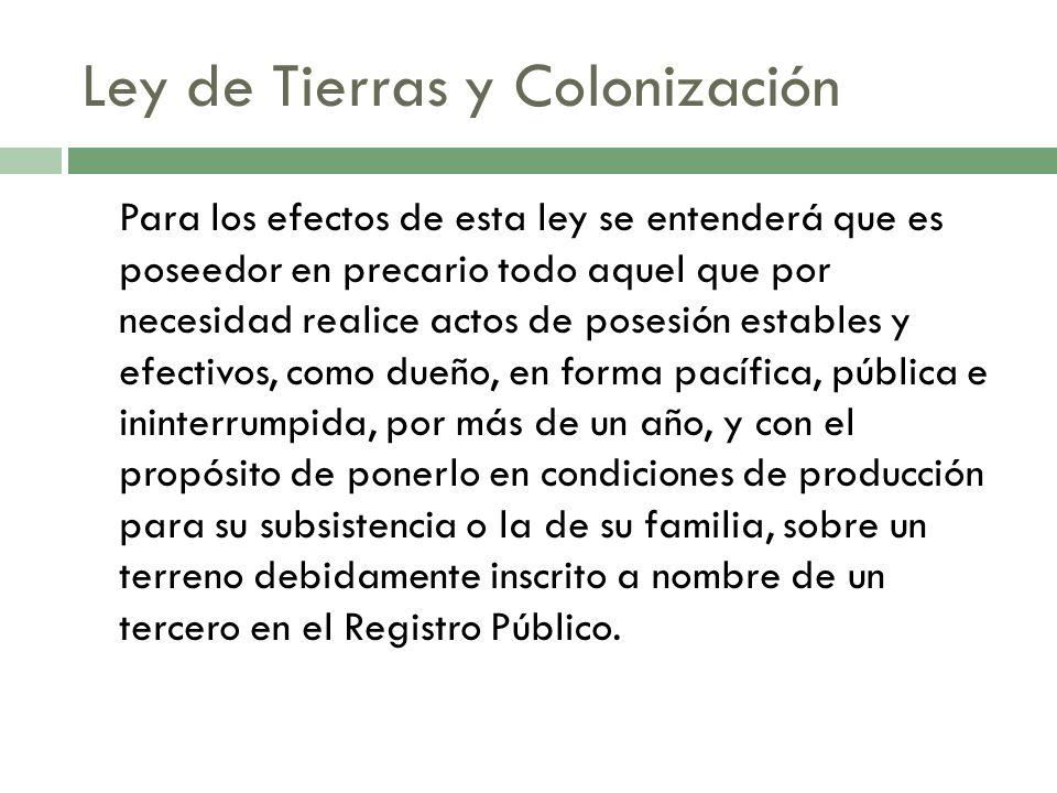 Ley de Tierras y Colonización