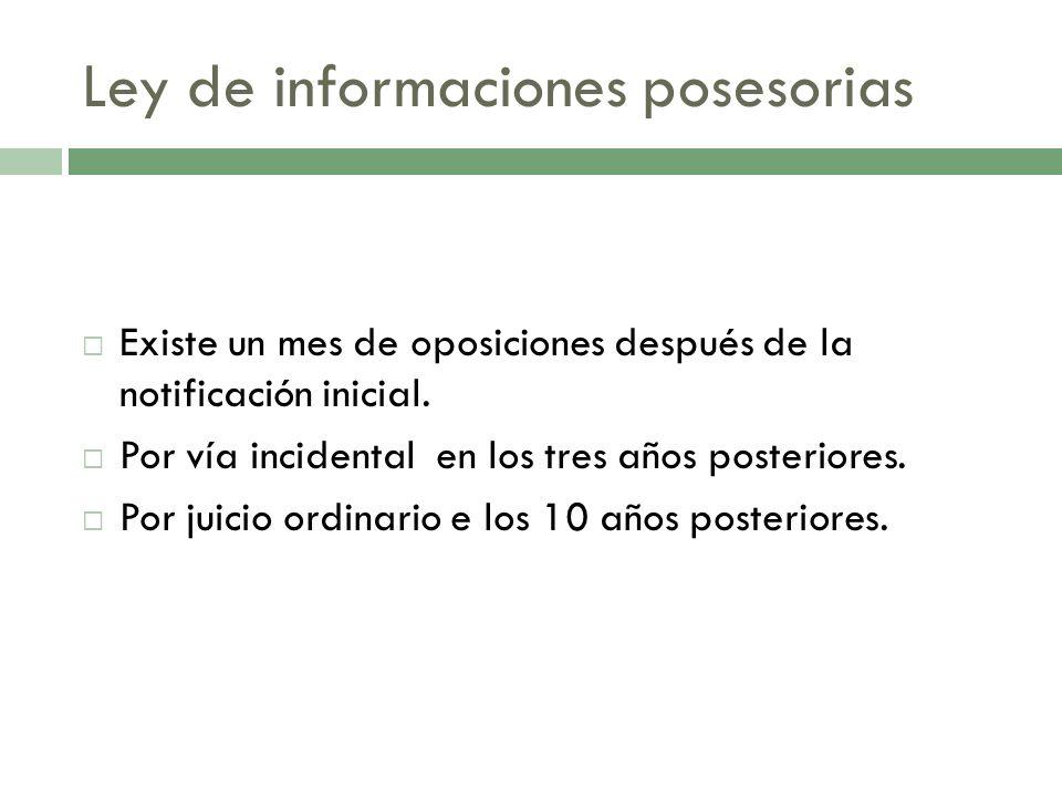 Ley de informaciones posesorias