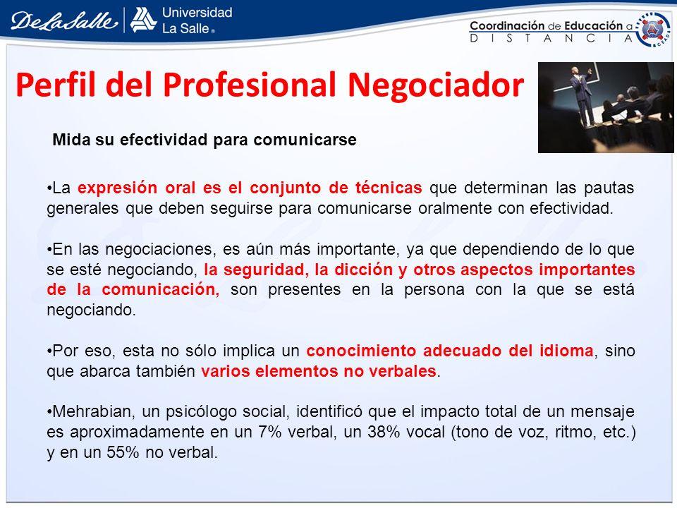 Perfil del Profesional Negociador