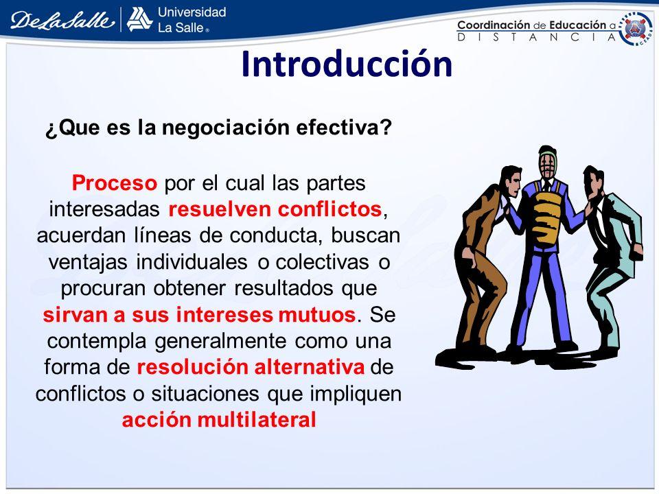 ¿Que es la negociación efectiva