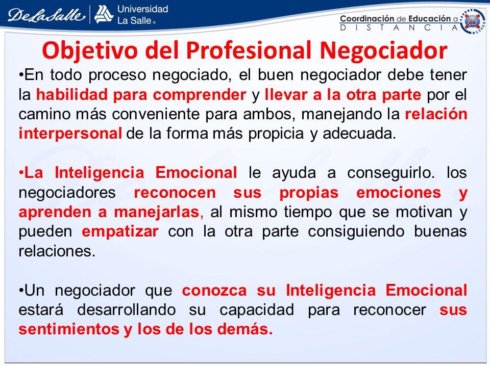 Objetivo del Profesional Negociador