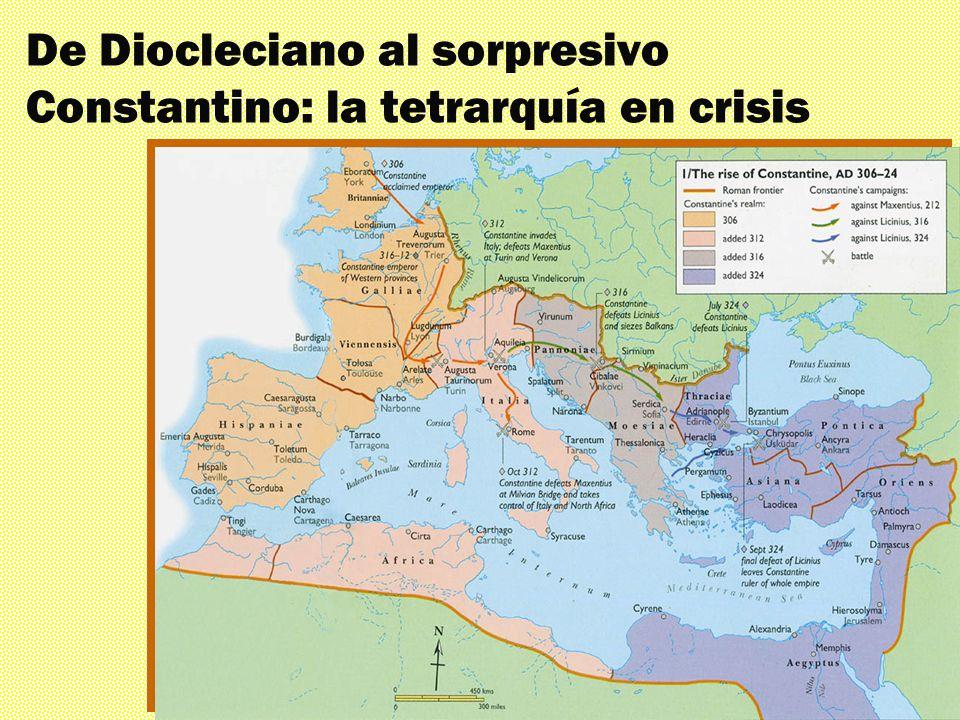 De Diocleciano al sorpresivo Constantino: la tetrarquía en crisis