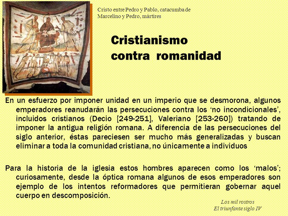 Cristianismo contra romanidad