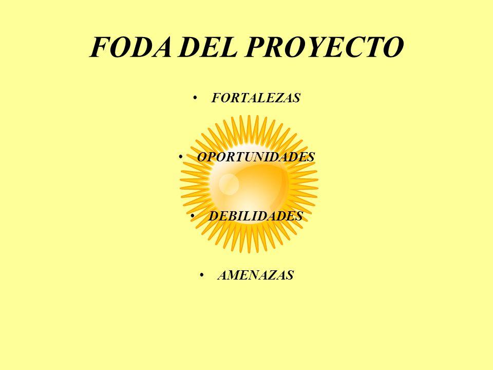 FODA DEL PROYECTO FORTALEZAS OPORTUNIDADES DEBILIDADES AMENAZAS