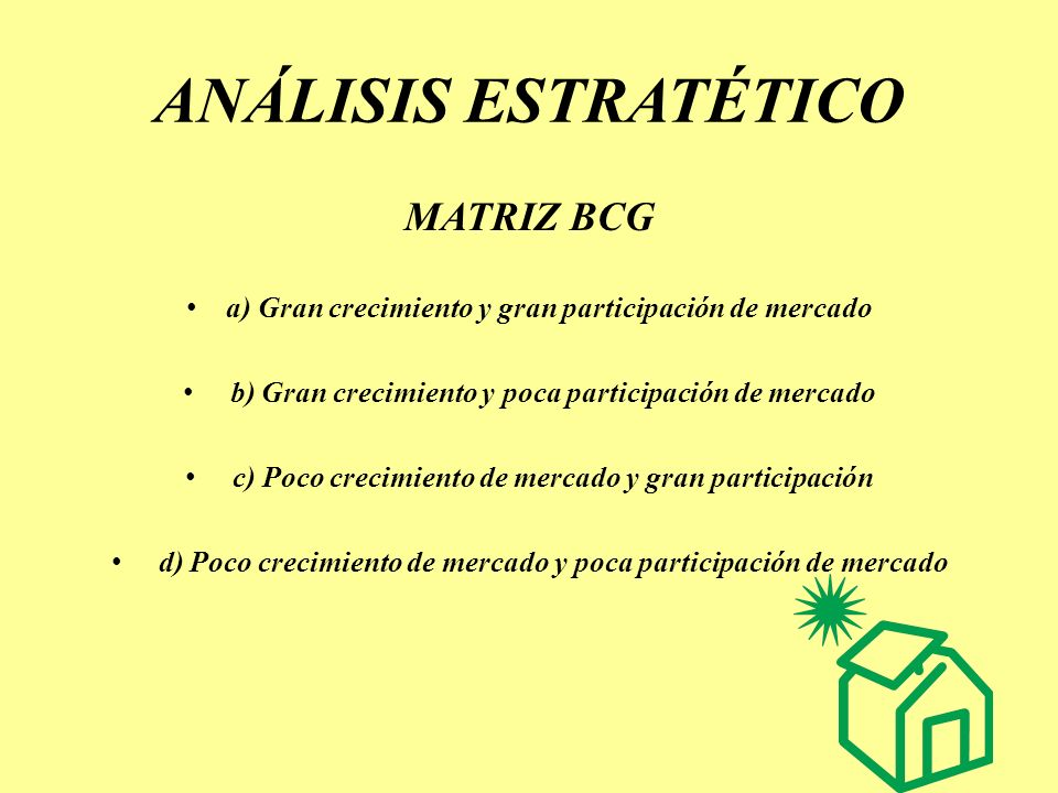 ANÁLISIS ESTRATÉTICO MATRIZ BCG
