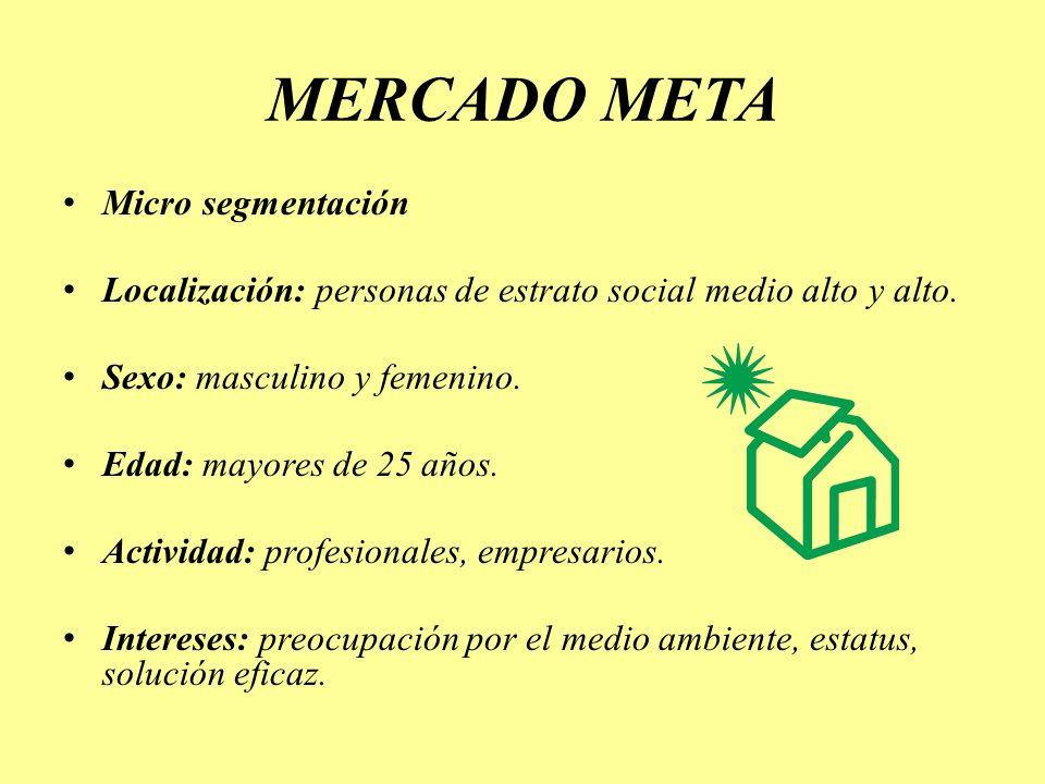 MERCADO META Micro segmentación