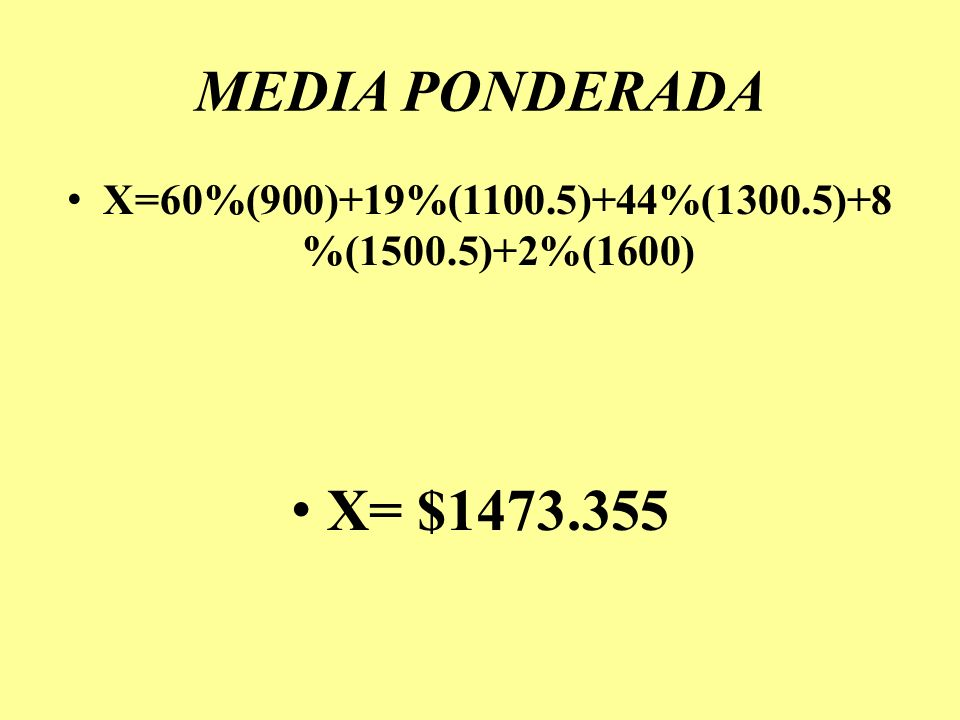X=60%(900)+19%(1100.5)+44%(1300.5)+8%(1500.5)+2%(1600)