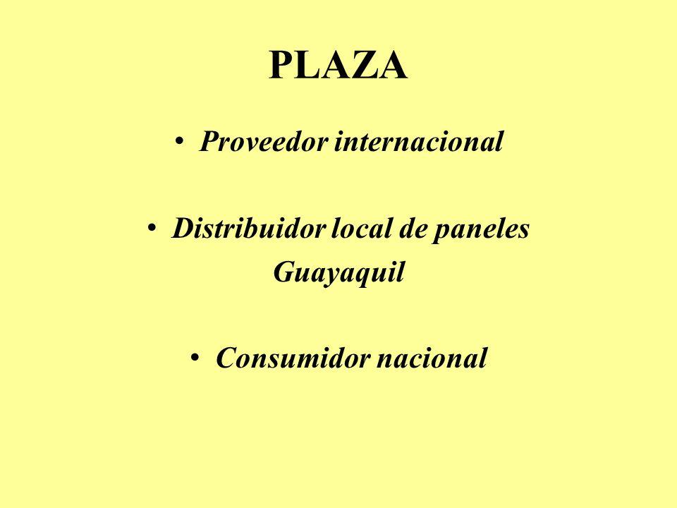 Proveedor internacional Distribuidor local de paneles