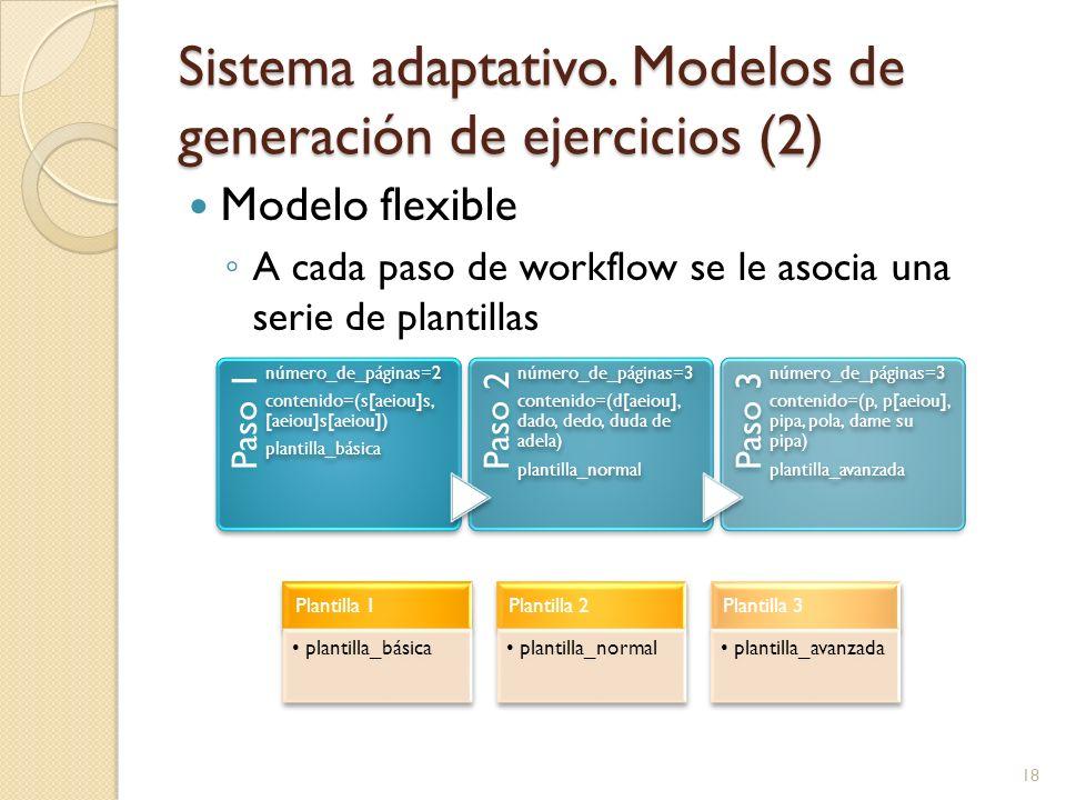 Sistema adaptativo. Modelos de generación de ejercicios (2)