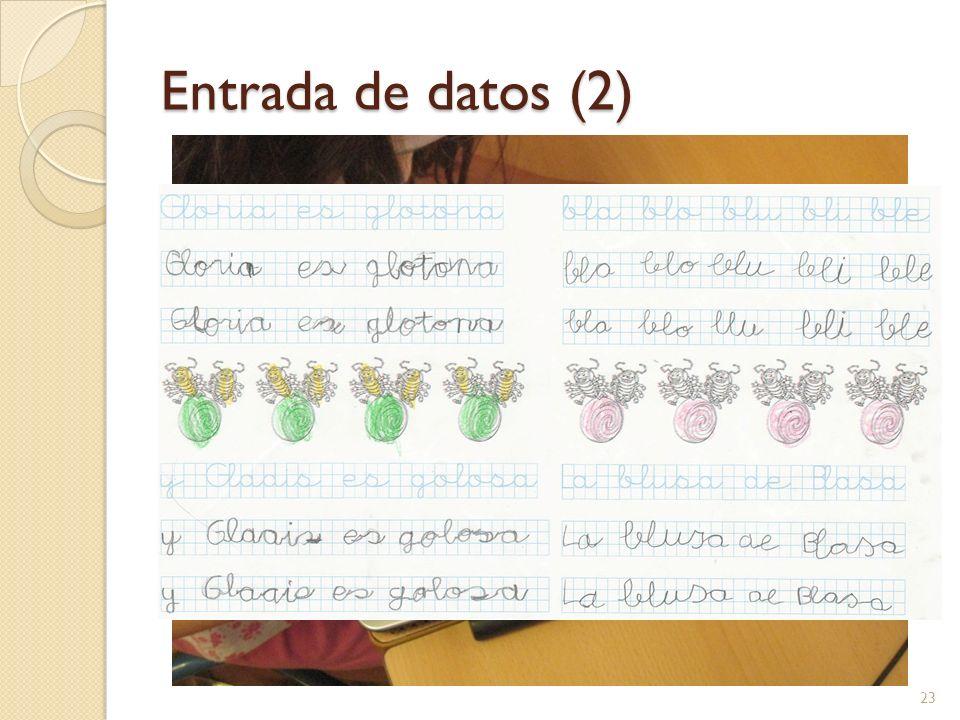 Entrada de datos (2) El último ejercicio es lo que llamamos ejercicio resuelto.
