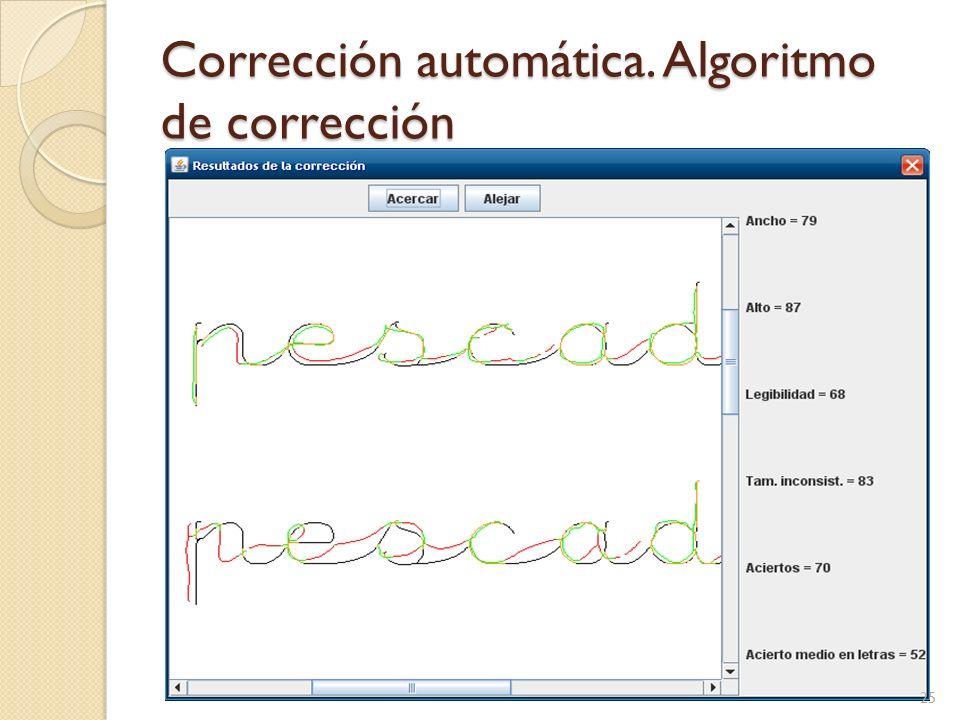 Corrección automática. Algoritmo de corrección
