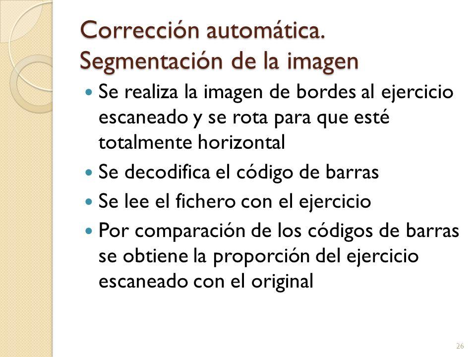 Corrección automática. Segmentación de la imagen