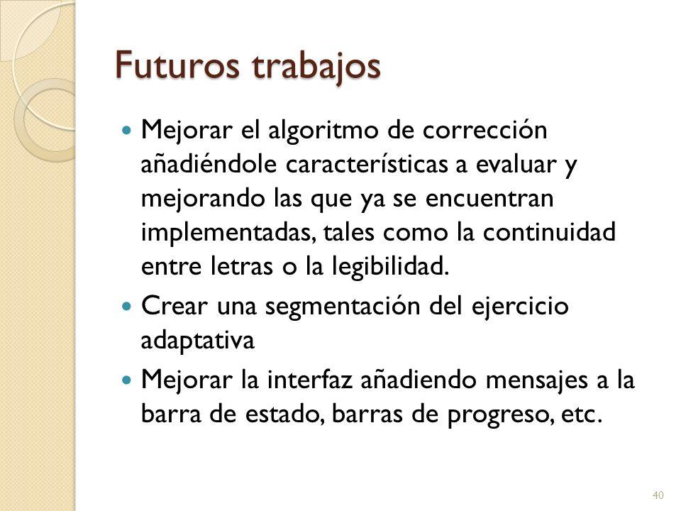 Futuros trabajos