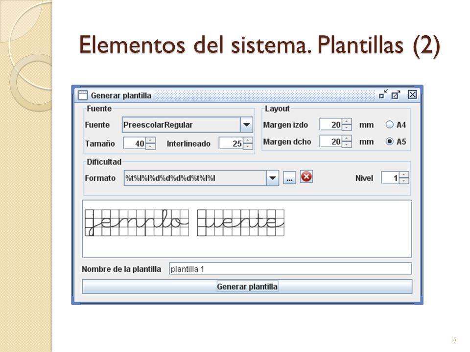 Elementos del sistema. Plantillas (2)