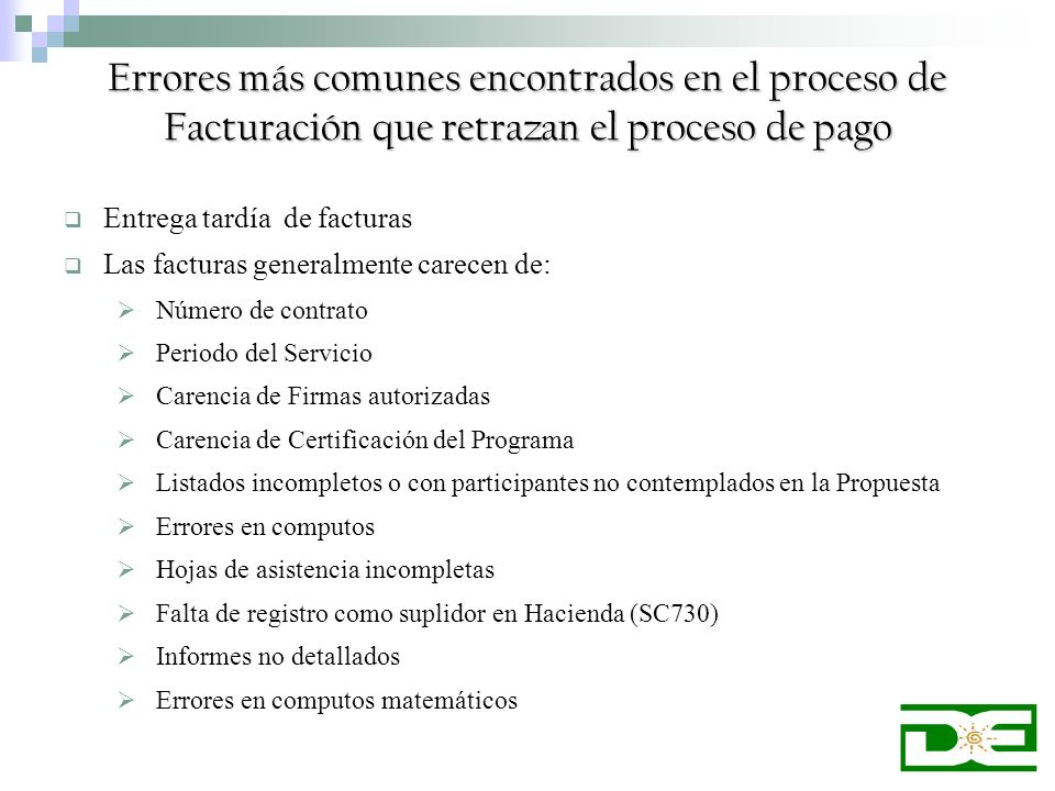 Errores más comunes encontrados en el proceso de Facturación que retrazan el proceso de pago