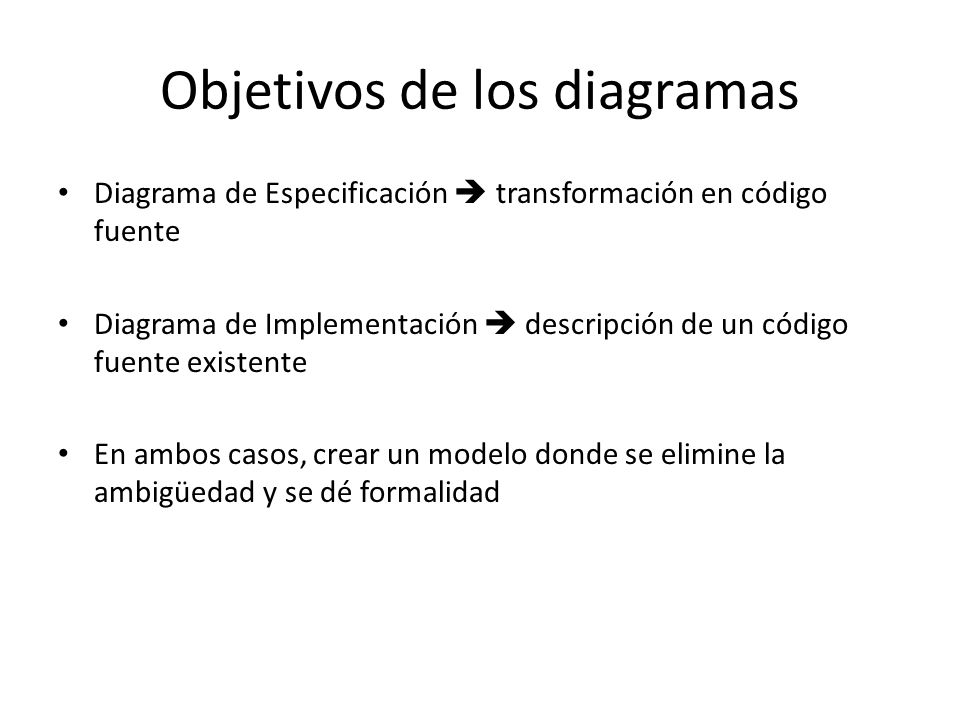 Objetivos de los diagramas