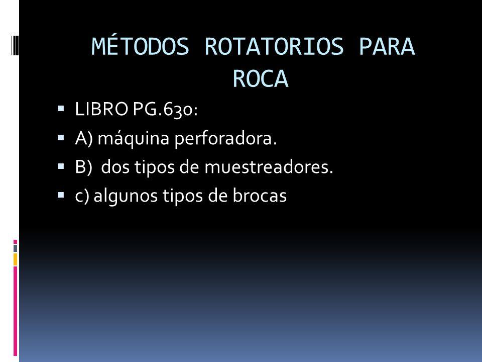MÉTODOS ROTATORIOS PARA ROCA