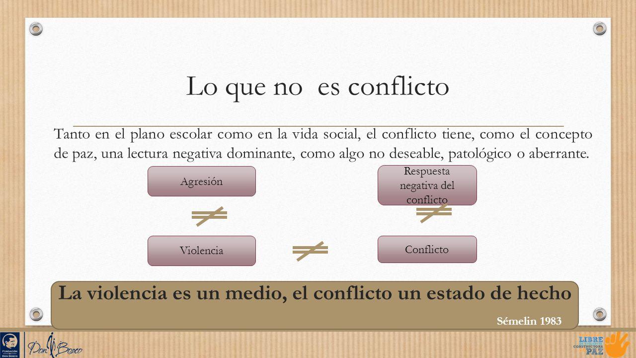Lo que no es conflicto