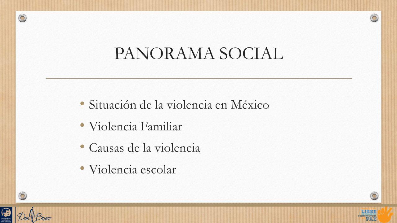 PANORAMA SOCIAL Situación de la violencia en México Violencia Familiar