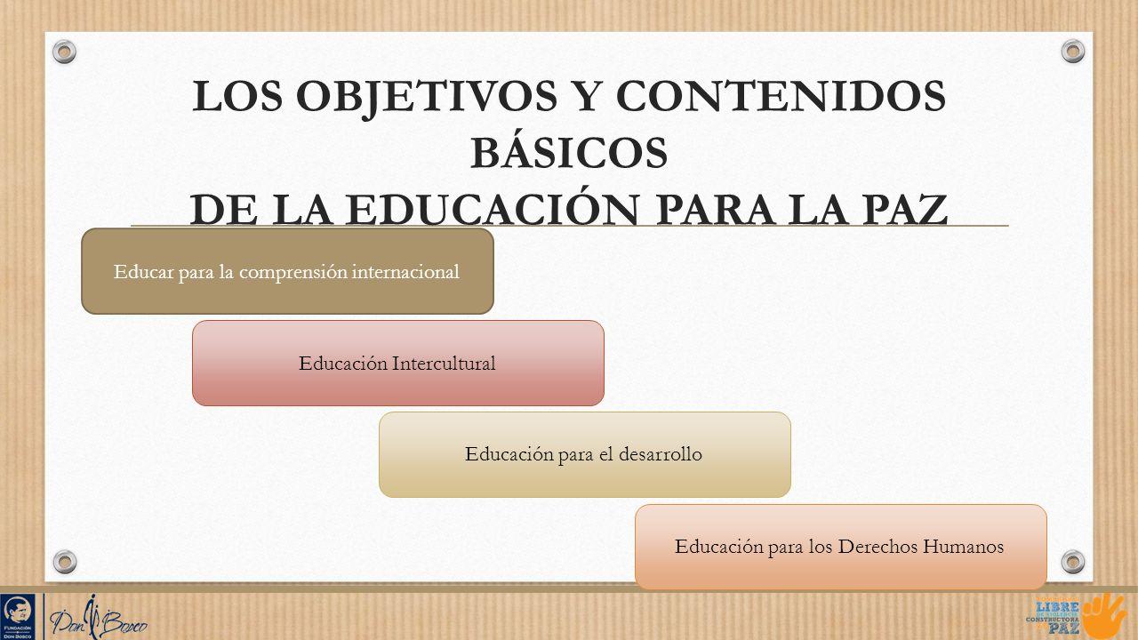 LOS OBJETIVOS Y CONTENIDOS BÁSICOS DE LA EDUCACIÓN PARA LA PAZ