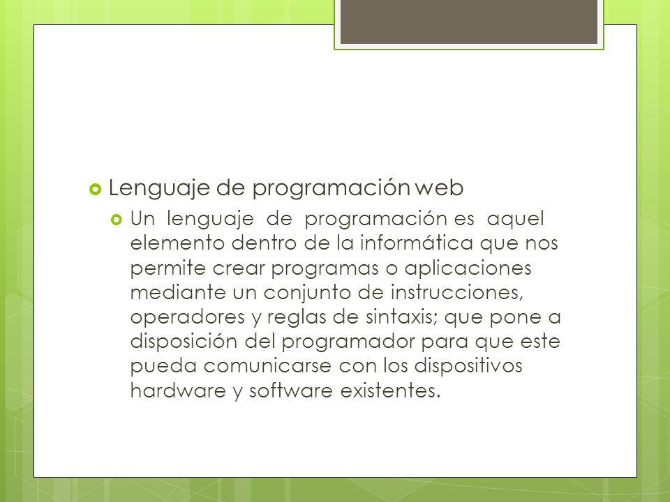 Lenguaje de programación web