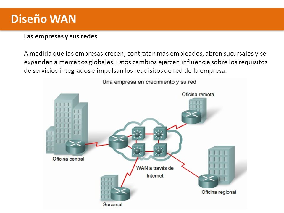 Diseño WAN Las empresas y sus redes