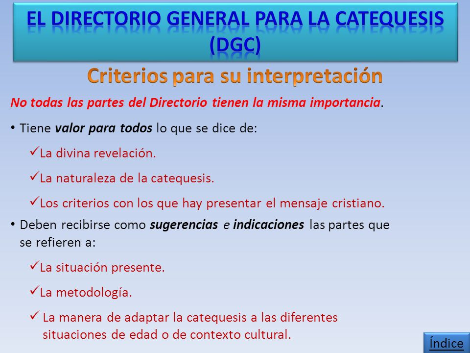 Criterios para su interpretación