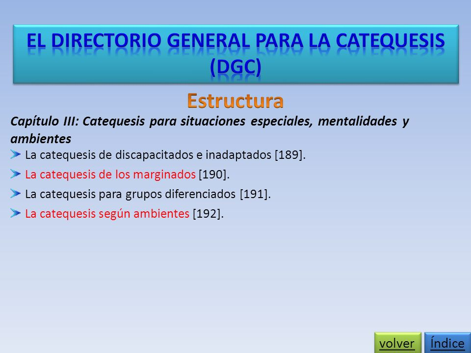 El Directorio General para la Catequesis
