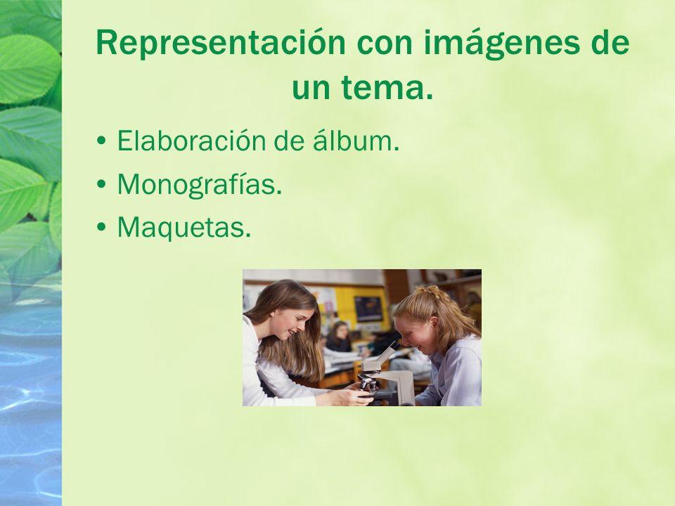 Representación con imágenes de un tema.