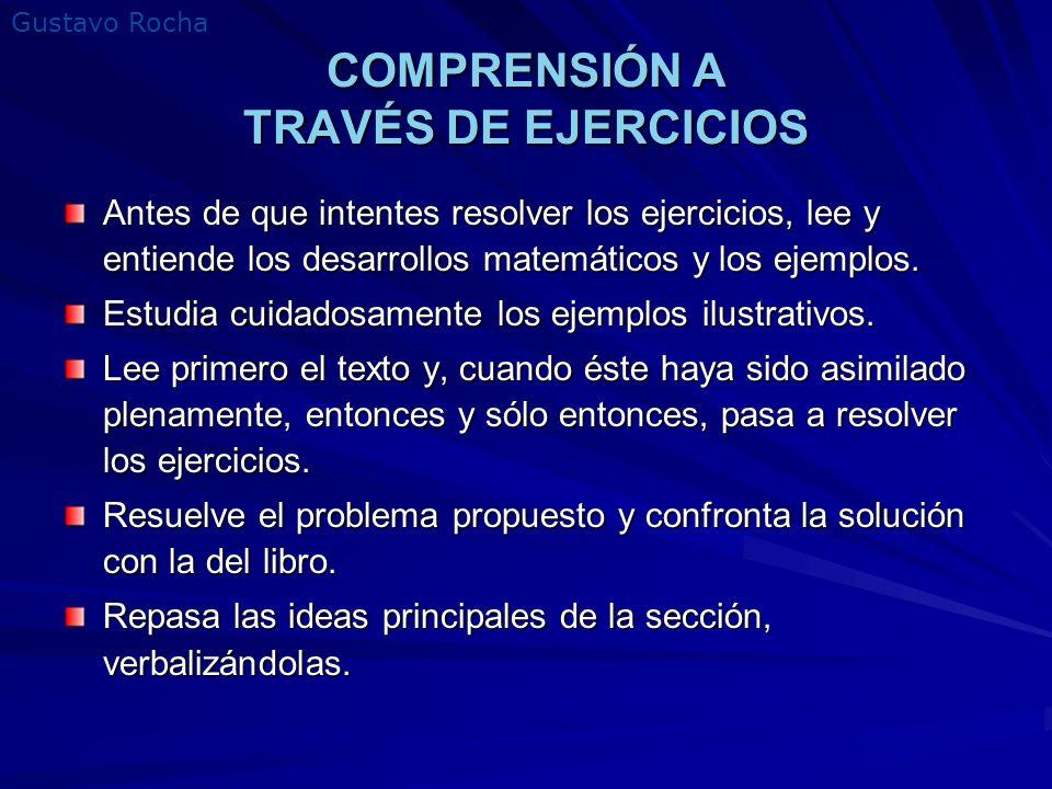 COMPRENSIÓN A TRAVÉS DE EJERCICIOS