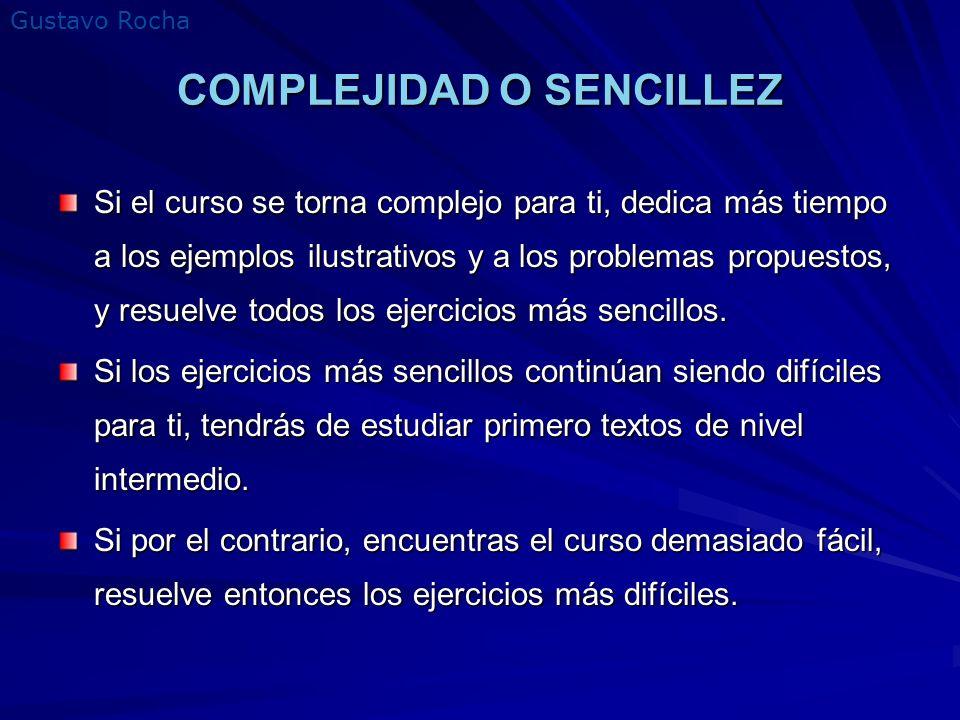 COMPLEJIDAD O SENCILLEZ