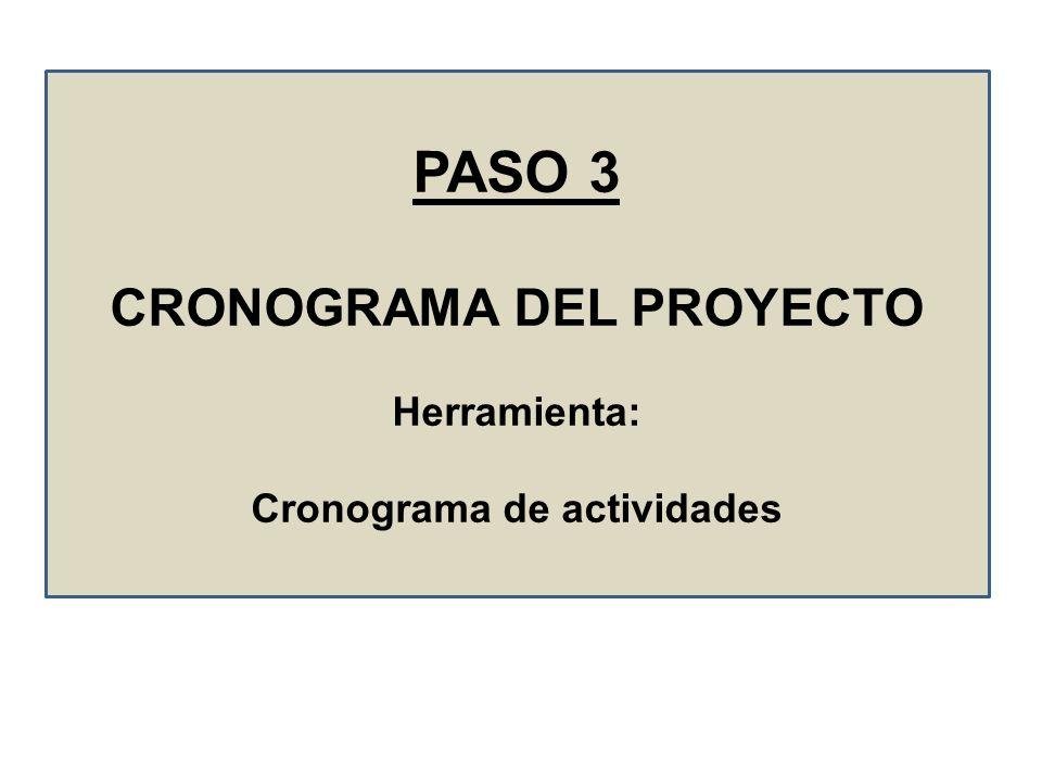 CRONOGRAMA DEL PROYECTO Cronograma de actividades