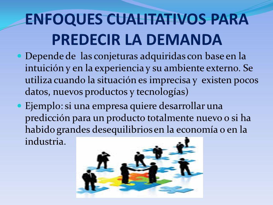ENFOQUES CUALITATIVOS PARA PREDECIR LA DEMANDA